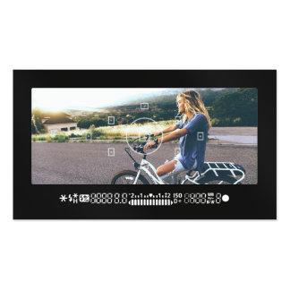 Noir moderne de photographie de viseur frais carte de visite standard