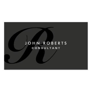 Noir moderne élégant professionnel de monogramme cartes de visite professionnelles