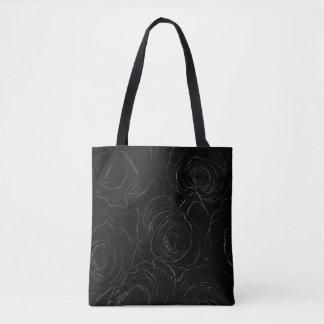Noir Rose Tote Bag