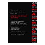 Noir rouge de barre d'Aaron d'invitation moderne f