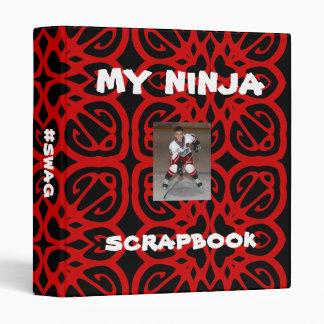 Noir rouge personnalisé de Ninja d'album à album Classeur Vinyle