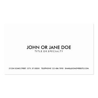 noir simple et blanc carte de visite standard