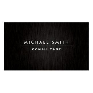 Noir simple simple moderne élégant professionnel cartes de visite professionnelles