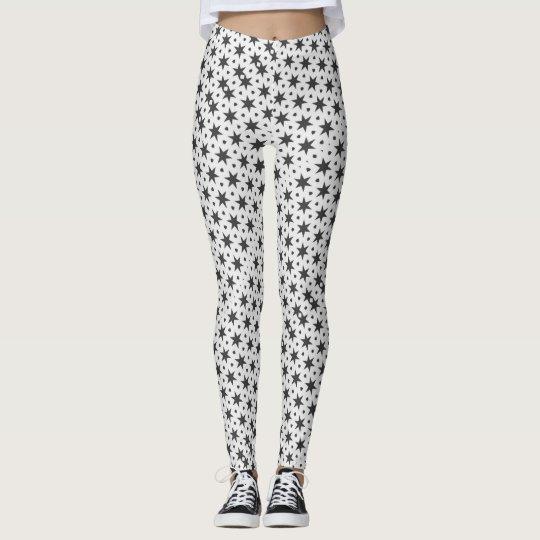 Noir Starry Stars Pattern Leggings ★Psydefx★