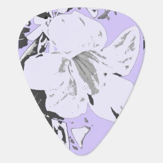 Noir violet floral tropical vintage onglet de guitare