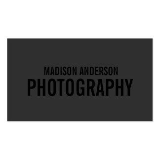 Noircissez les cartes de visite de la photographie carte de visite standard