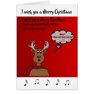 Noisey Rudolph Design w Text Card