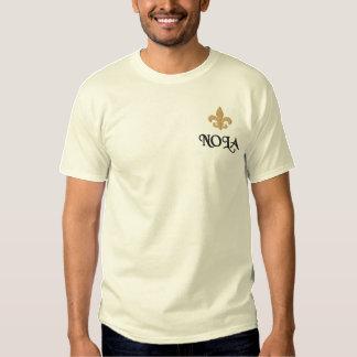 NOLA  Fleur De Lis Embroidered T-Shirt