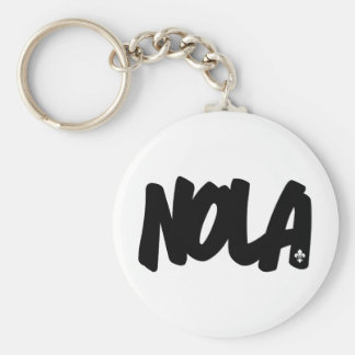 NOLA Letters Basic Round Button Keychain