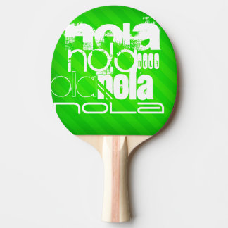 NOLA; Neon Green Stripes Ping Pong Paddle