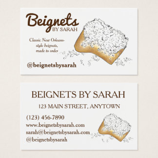 NOLA New Orleans Louisiana Beignets Pastry Food Business Card