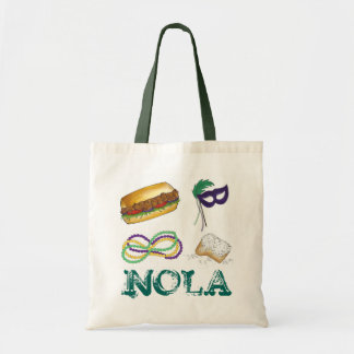 NOLA New Orleans Louisiana Mardi Gras Beads Party Tote Bag