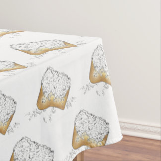 NOLA New Orleans Louisiana Sugary Beignet Pastry Tablecloth