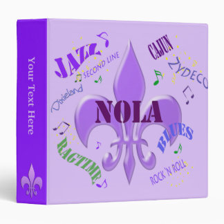 Nola New Orleans Music Binder