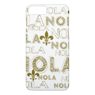NOLA NOLA NOLA Gold Fleur-de-lis Case-Mate iPhone Case