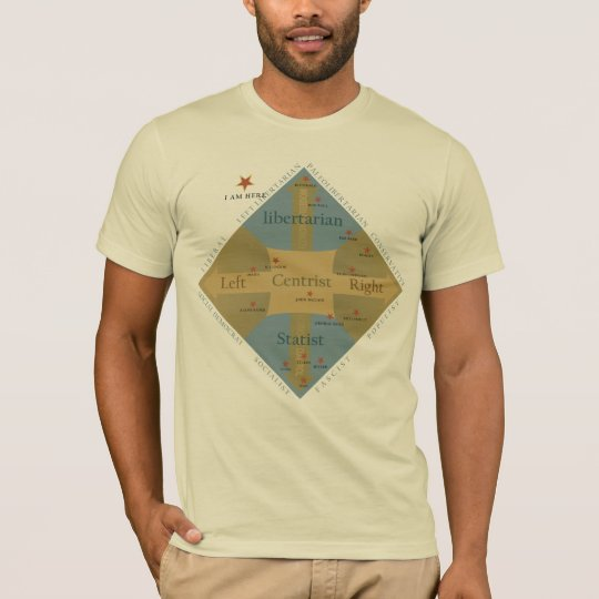 Nolan Chart Political Philosophy T-shirt