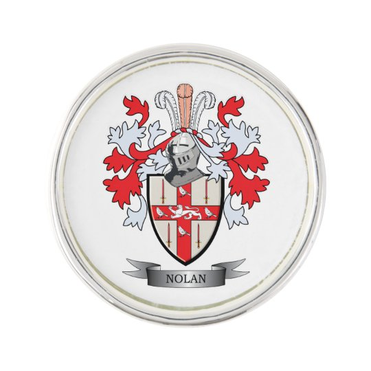 Nolan Coat of Arms Lapel Pin