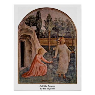 Noli Me Tangere By Fra Angelico Poster
