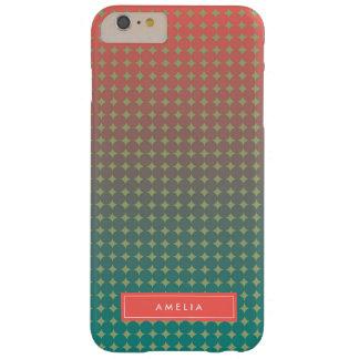 Nom abstrait de monogramme de mélange de couleur coque barely there iPhone 6 plus