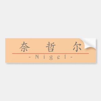 Nom chinois pour Nigel 20749_1.pdf Autocollant De Voiture