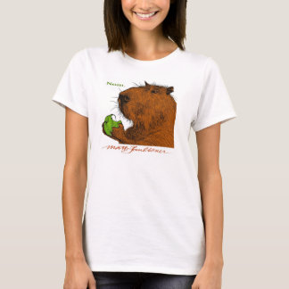 """Nom."" Colorful Capybara Woman's Tee"