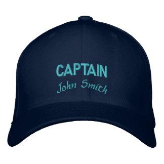 Nom de capitaine personnalisé casquette de baseball brodée