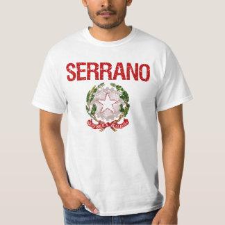 Nom de famille d'Italien de Serrano T-shirt