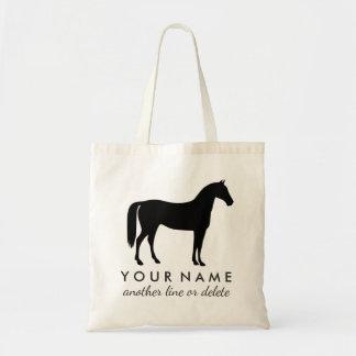 Nom équestre personnalisé de coutume d'équitation sac en toile budget