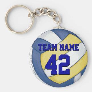 Nom et nombre d'équipe de volleyball porte-clé rond
