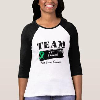 Nom fait sur commande d équipe - Cancer de foie T-shirts