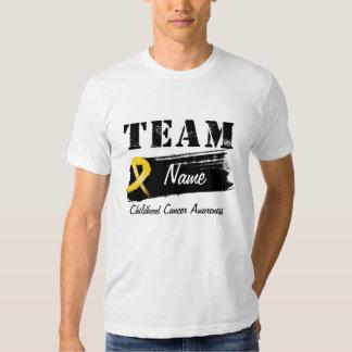 Nom fait sur commande d'équipe - Cancer d'enfance Tshirt