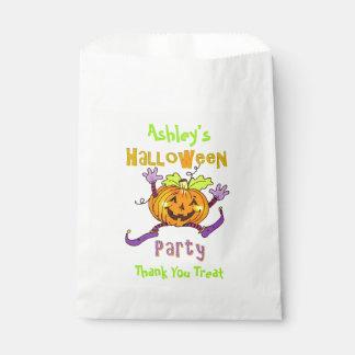 Nom heureux de coutume de partie de Halloween de Sachets En Papier
