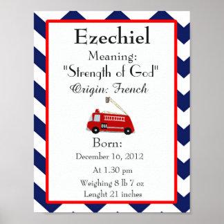 Nom nommé d'Ezechiel de crèche de souvenir de