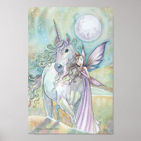 Nomads of the Mystic Dunes Fairy Unicorn Poster