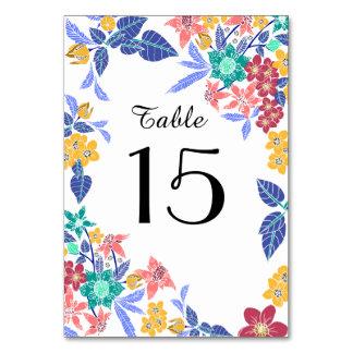 Nombre assez lumineux floral tropical de table carte