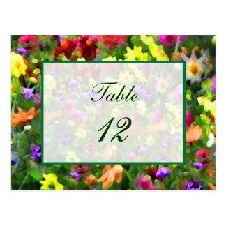 Nombre floral de Tableau d'impressions Cartes Postales