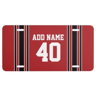 Nombre nommé fait sur commande du Jersey de sports Plaque D'immatriculation