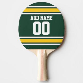 Nombre nommé fait sur commande du Jersey du Raquette De Ping Pong