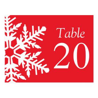 Nombres enormes de Tableau de flocon de neige (rou Carte Postale