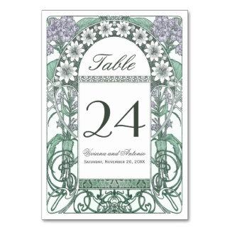 Nombres violets verts de Tableau de mariage de