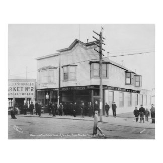 Nome, Alaska Bank, 1905 Poster