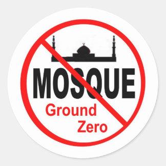 NoMosque7 Round Sticker
