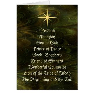 NOMS de JÉSUS - carte de Noël customisée
