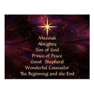 Noms de Jésus - carte postale customisée de Noël