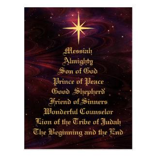 Noms de Jésus - carte postale de Noël