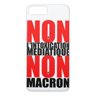 Non à l'INTOXICATION MEDIATIQUE NON à MACRON iP Case-Mate iPhone Case