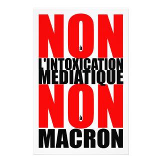 Non à l'INTOXICATION MEDIATIQUE NON à MACRON S Stationery