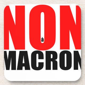 NON à MACRON Coaster