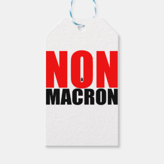 NON à MACRON Gift Tags