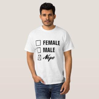 Non-Binary Gender Checklist Black Text T-Shirt